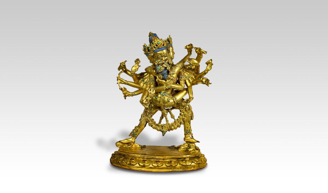 bronze tibétain statuette tibétaine divinité tibétaine