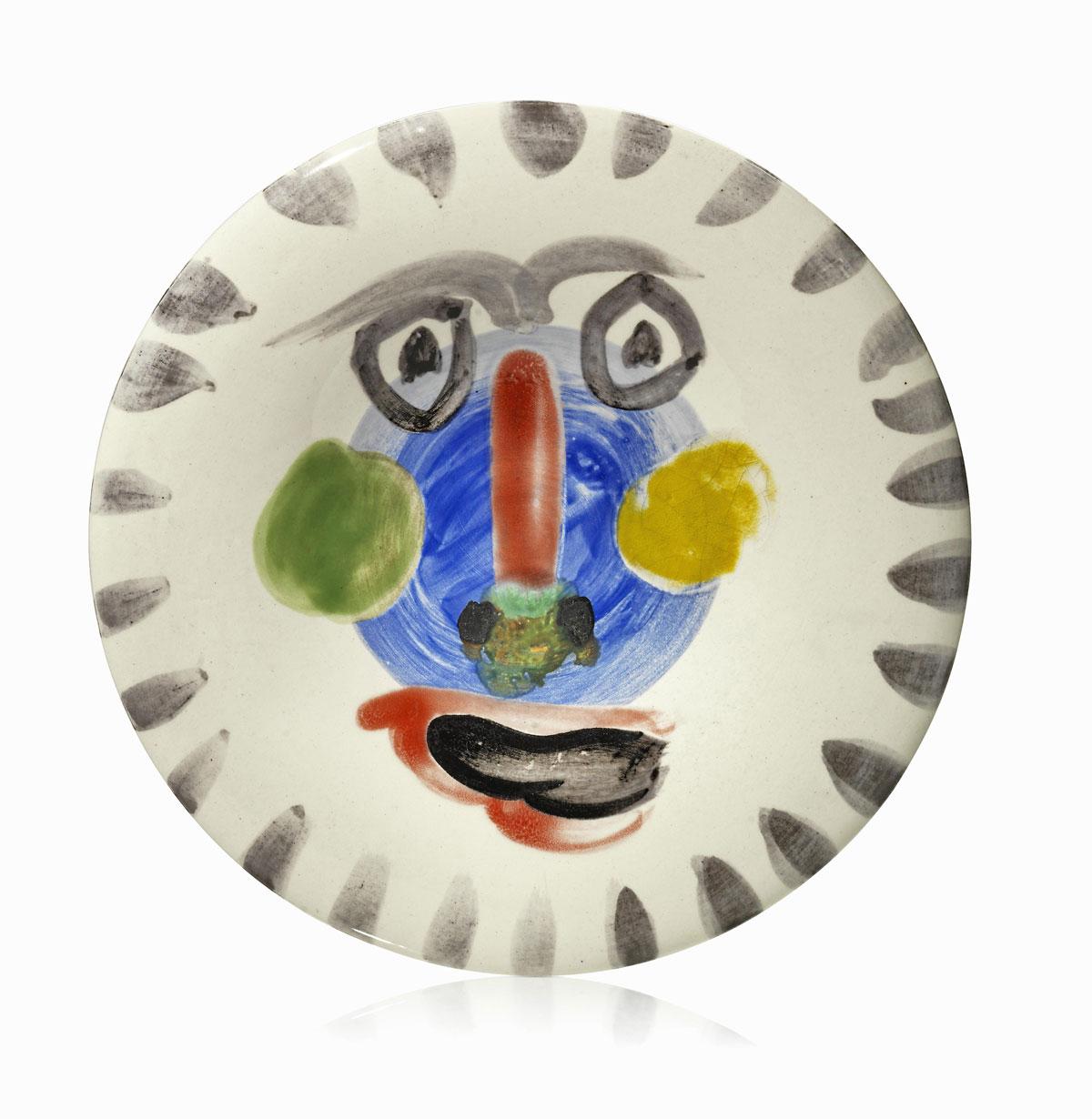 Assiette de Picasso-Edition Madoura, céramique de vallauris, prix achat vente