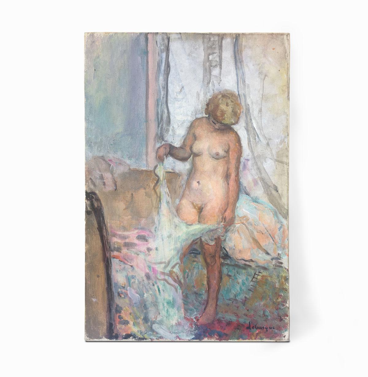 tableau de maitre moderne, meilleur prix, estimation, expertise, vendre achat vente henri lebasque portrait de femme nue