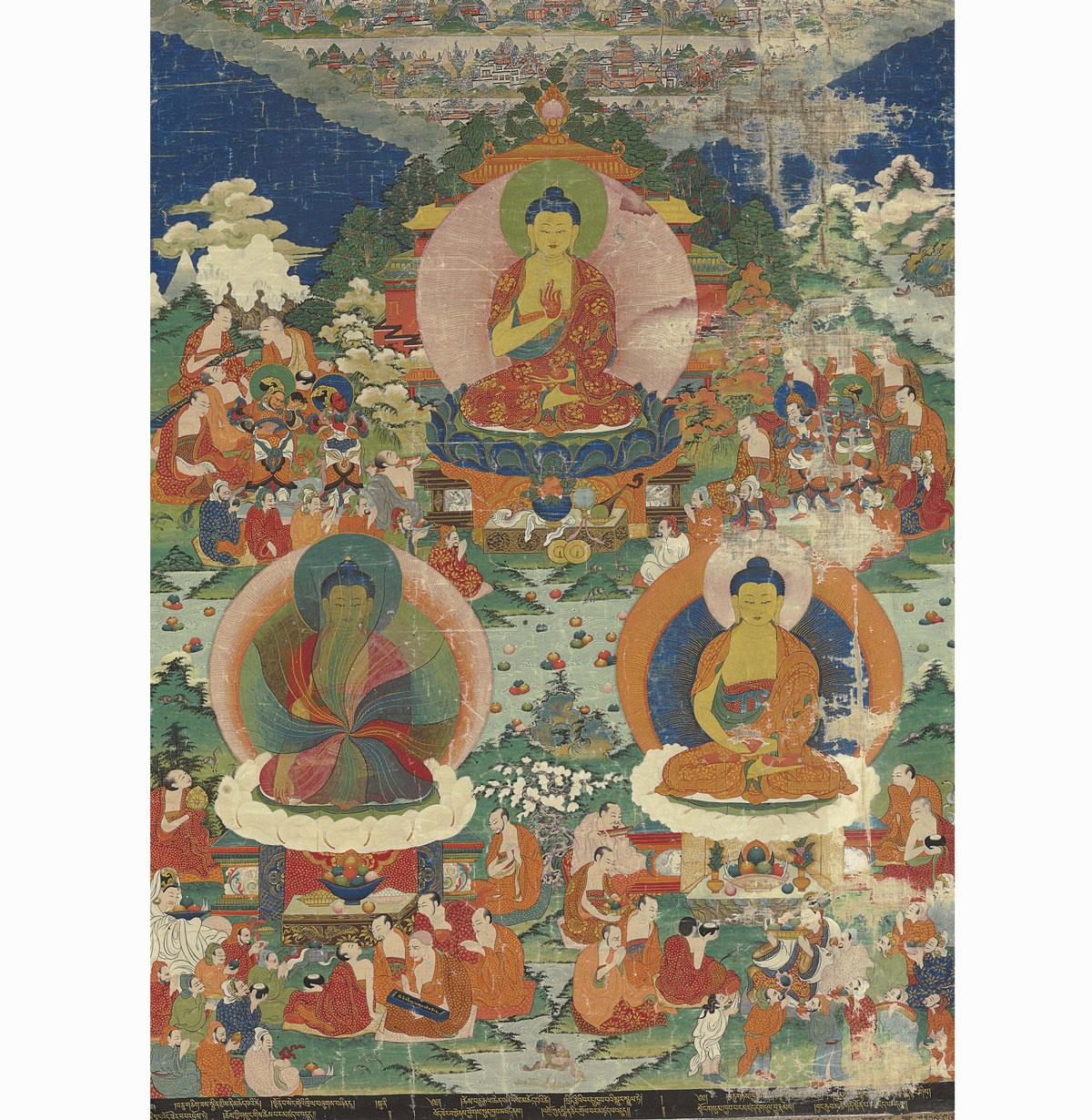 Tangka tibet, peinture asiatique, peinture chinoise, tableau indonésien, peinture vietnamienne, tableau asie, prix, estimation, achat, vente, expertise