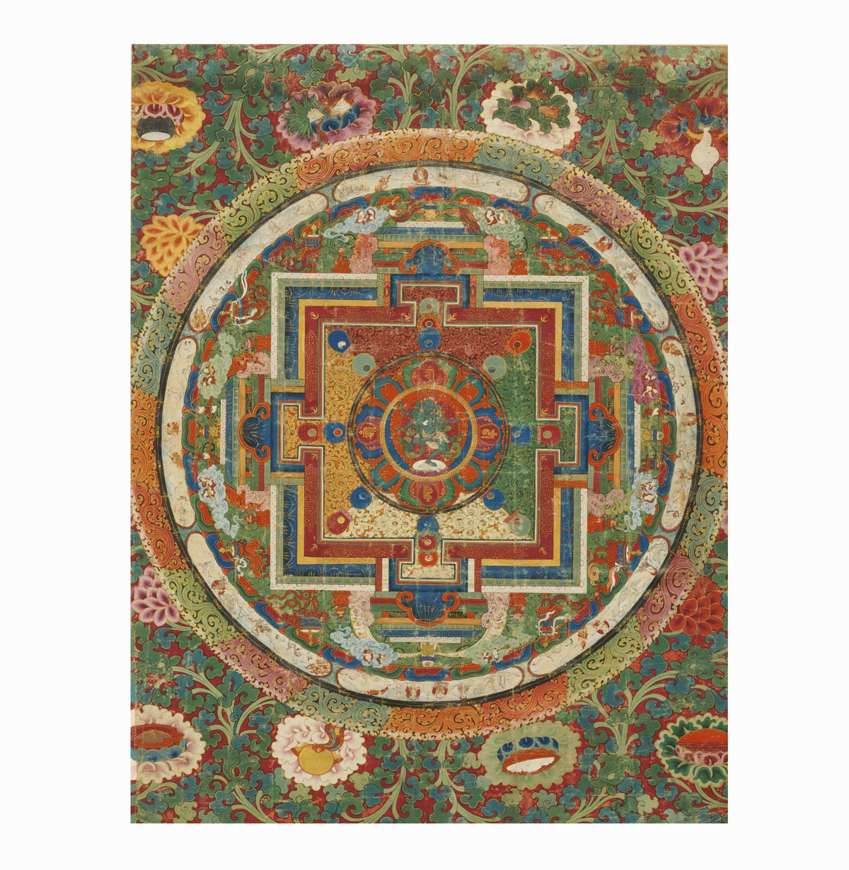 antiquités asiatiques. mandala tibet, prix, estimation, expertise, achat vente, vendre, art tibet.