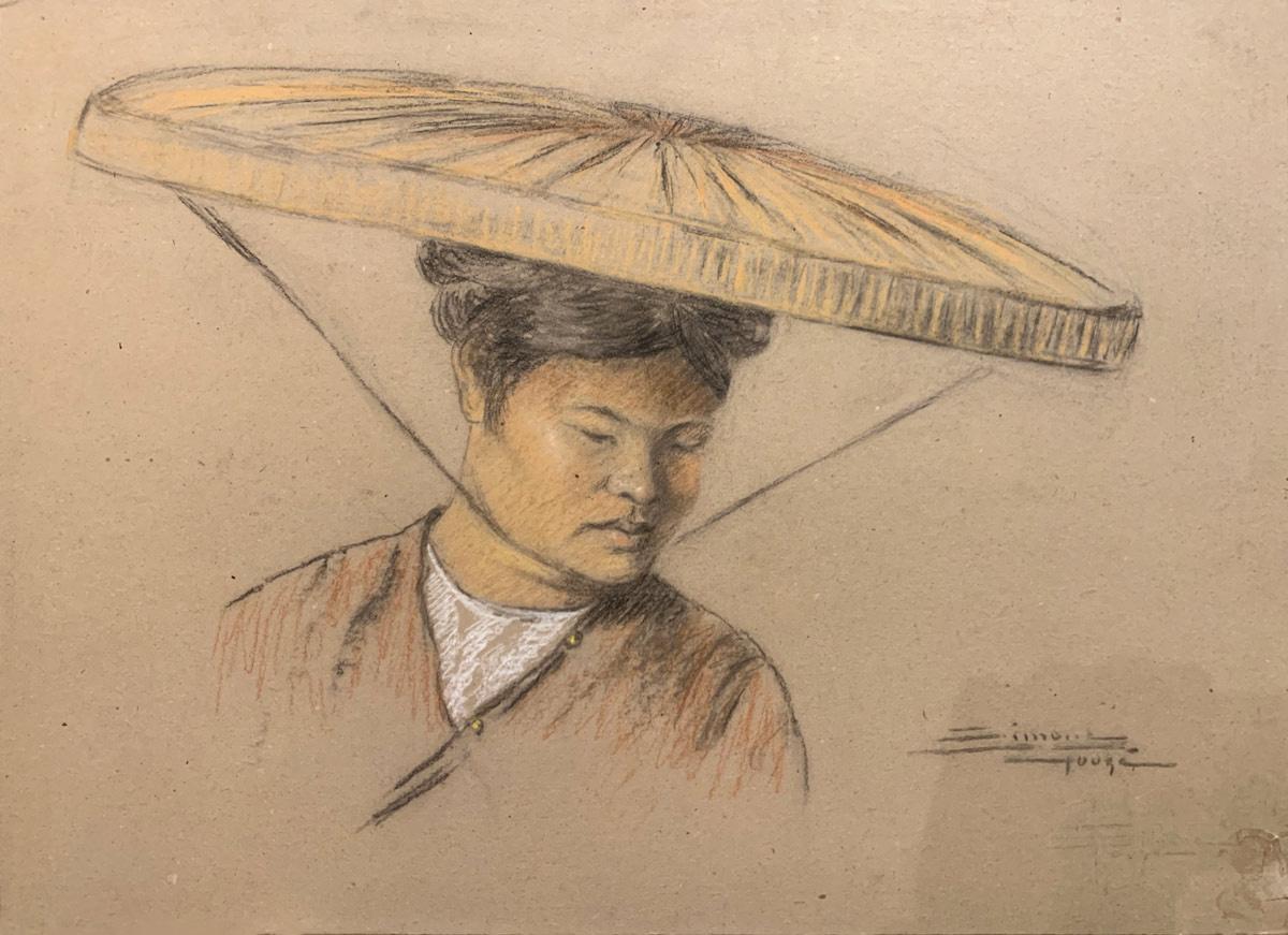 Chinois au chapeau de paille.