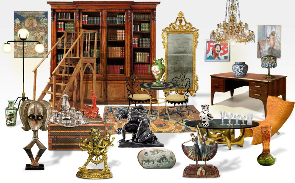 Furniture, Paintings, Objects.